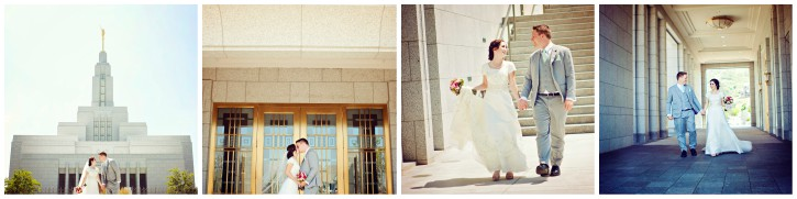 Draper Temple wedding