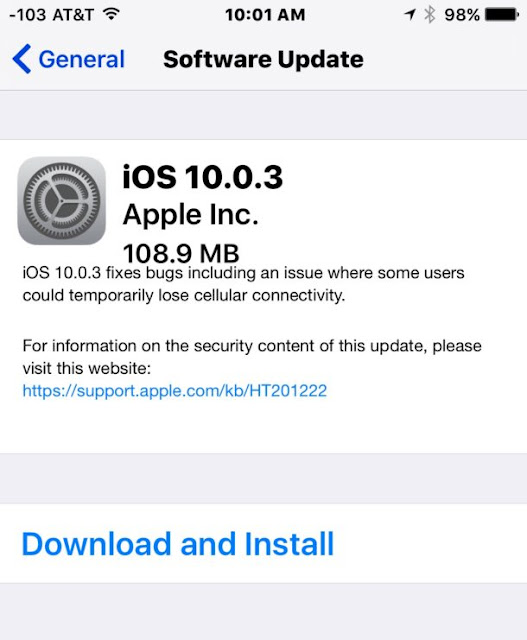 iOS 10.0.3 IPSW Download Links