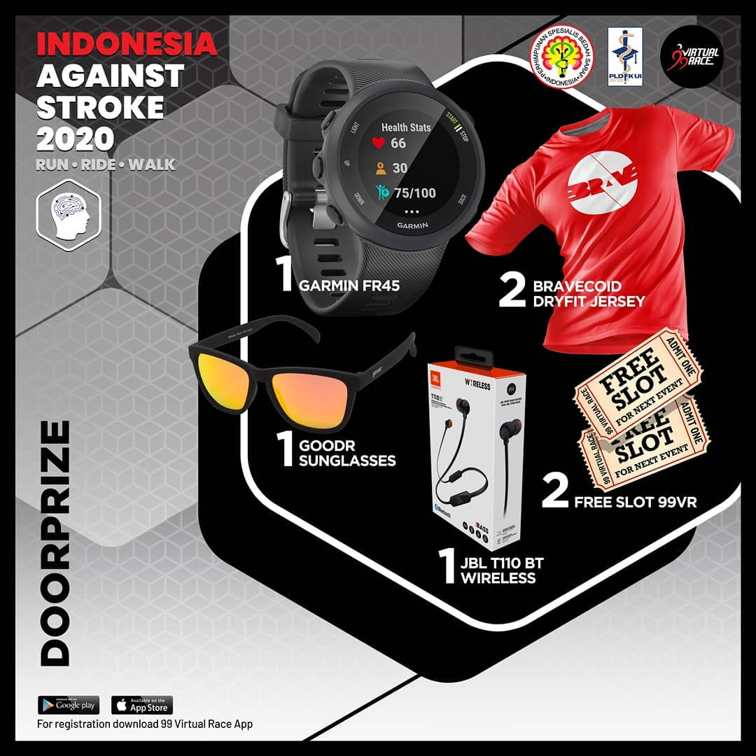 Doorprize - Run Ride Walk Indonesia Against Stroke • 2020