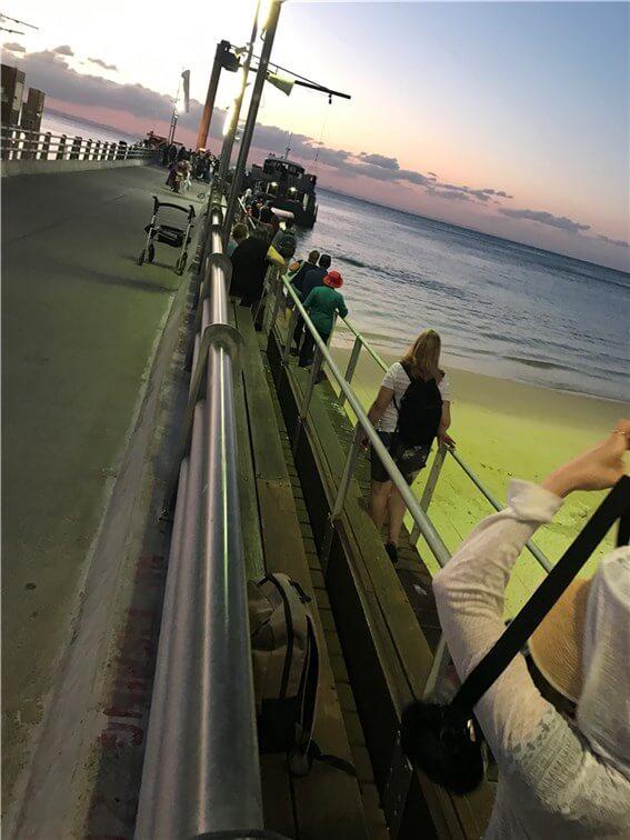タンガルーマアイランドリゾートの桟橋 ジェティの写真