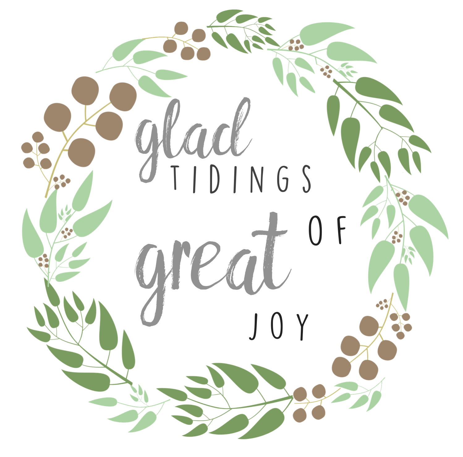 Glad tidings of great joy // Free Printable // via @ahopefulhood