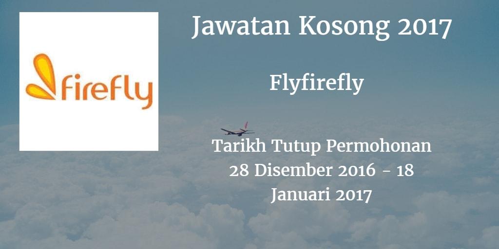 Jawatan Kosong Flyfirefly 28 Disember 2016 - 18 Januari 2017