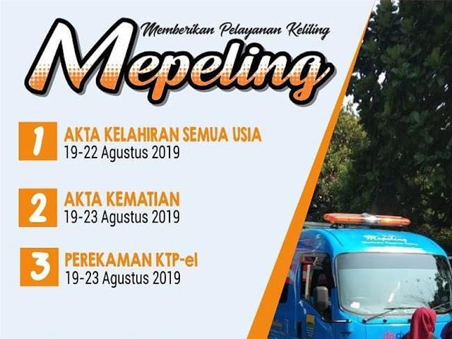 Jadwal Mepeling Disdukcapil Kota Bandung 19 - 23 Agustus 2019