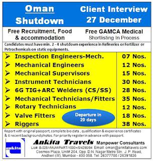 Oman Shutdown Free Recruitment