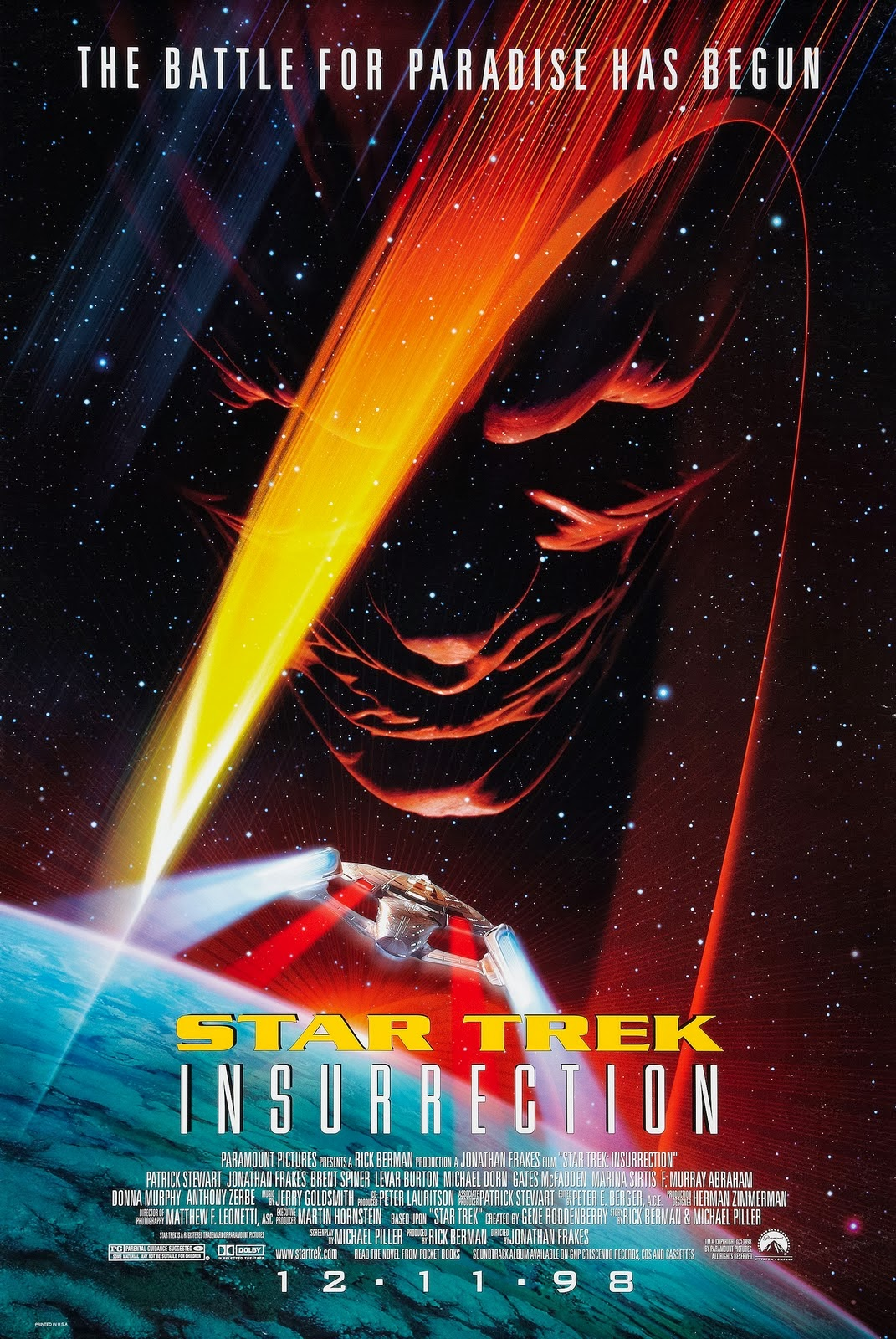 Star Trek Insurrection Movie Poster