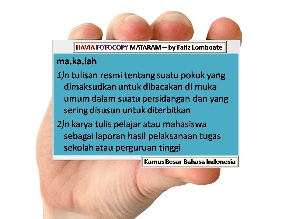 Pengertian Makalah Menurut Kamus Besar Bahasa Indonesia - KBBI