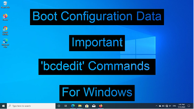 bcdedit commands examples
