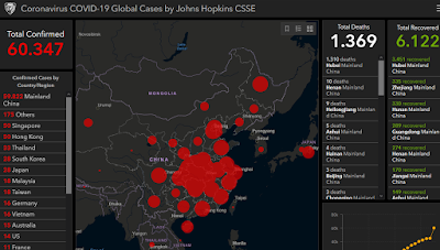 Actualizacion Coronavirus COVID-19 Global Cases by Johns Hopkins CSSE