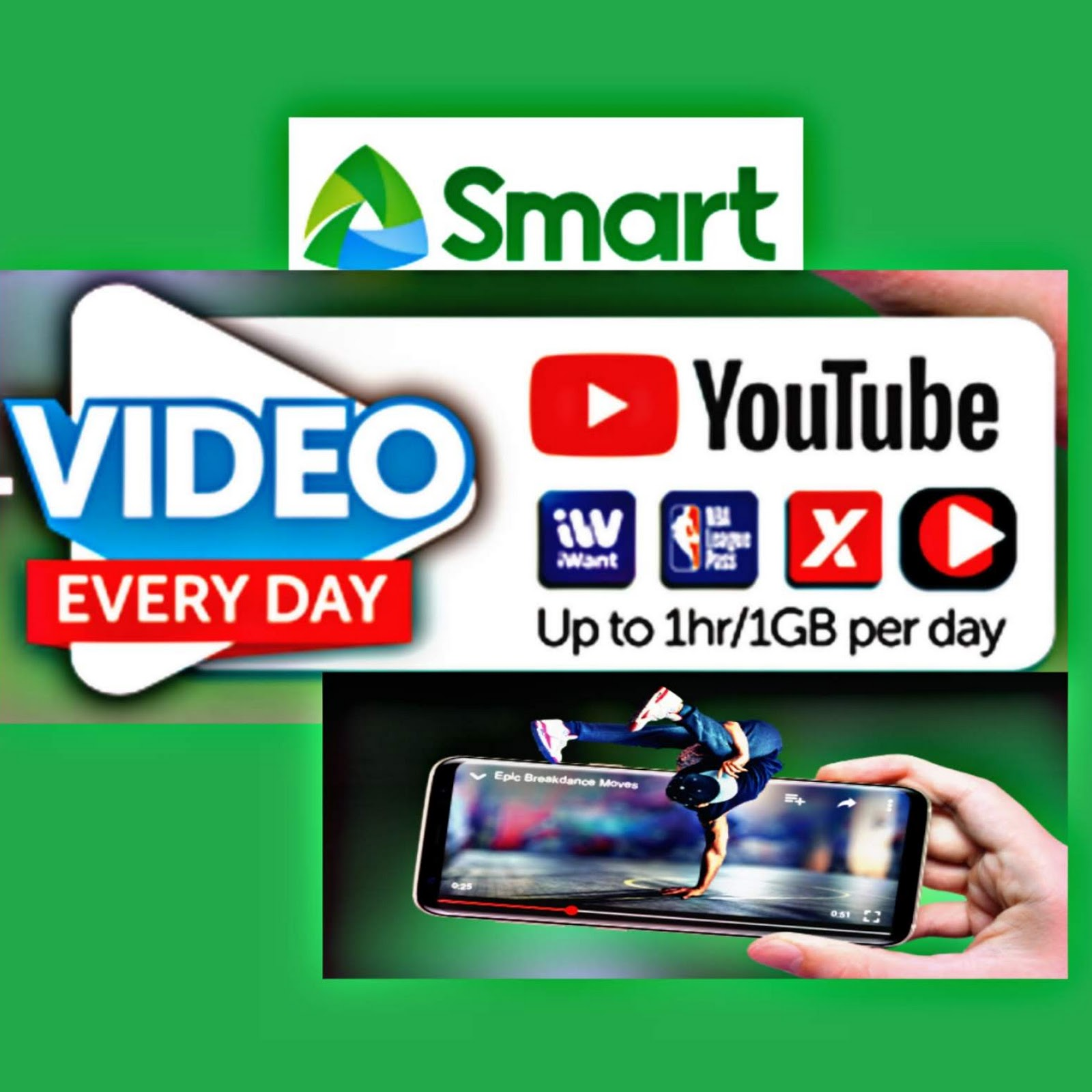 List Of Smart Internet Promos Giga Surf Promos With Free 1GB Video Everyday