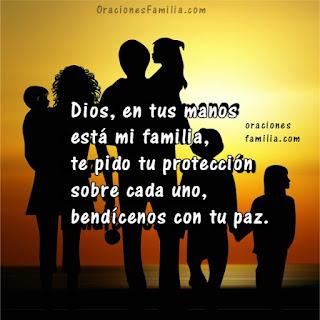 imagen de una familia oración para la protección bendicion y paz de los hijos