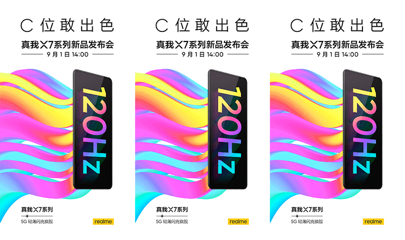realme X7 series to feature a 120Hz AMOLED screen and 5G connectivity