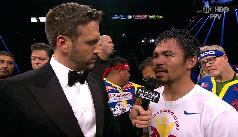 Manny Pacquiao tells Max Kellerman he thought he won the fight