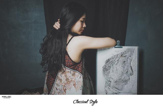 Tôi mô tả tính cách nghệ thuật của một họa sĩ vẽ tranh