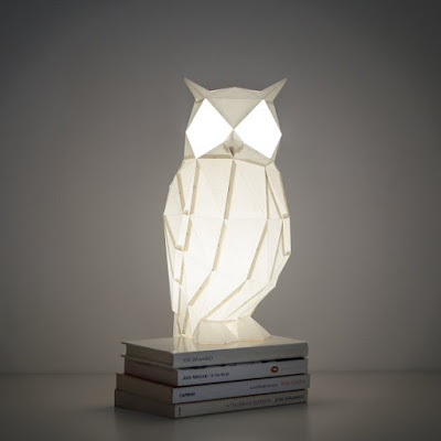 DIY Owl Paper Lamp