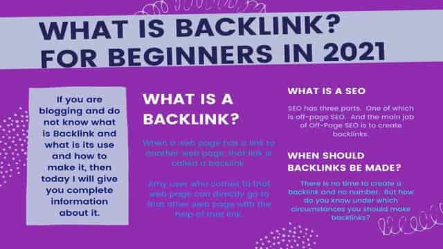 What is Backlink? how to create it Backlink? for Beginners in 2021