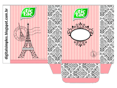 Beautiful Paris Free Printable Tic Tac Box.