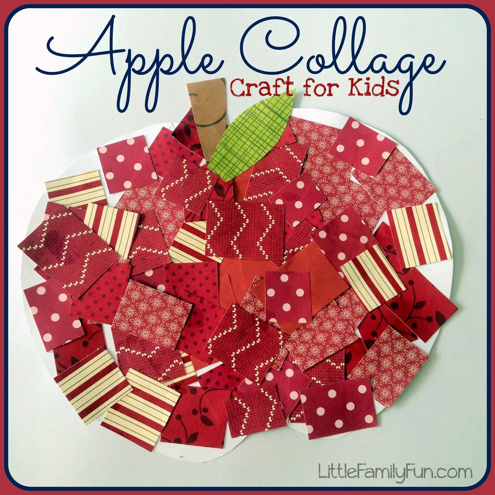 Little Family Fun: Apple Collage