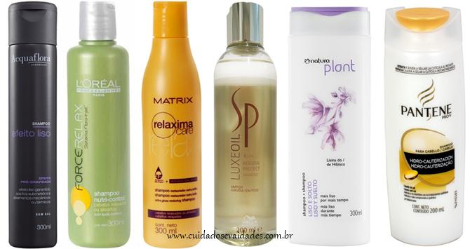 Shampoo para cabelos quimicamente tratados, alisados, relaxados ou lisos