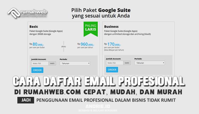 Cara Daftar Email Profesional di Rumahwebcom Mudah Cepat dan Murah