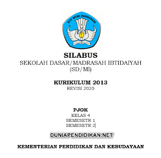 Silabus PJOK Kelas 4 SD/MI Semester 1&2 K13 Revisi 2021