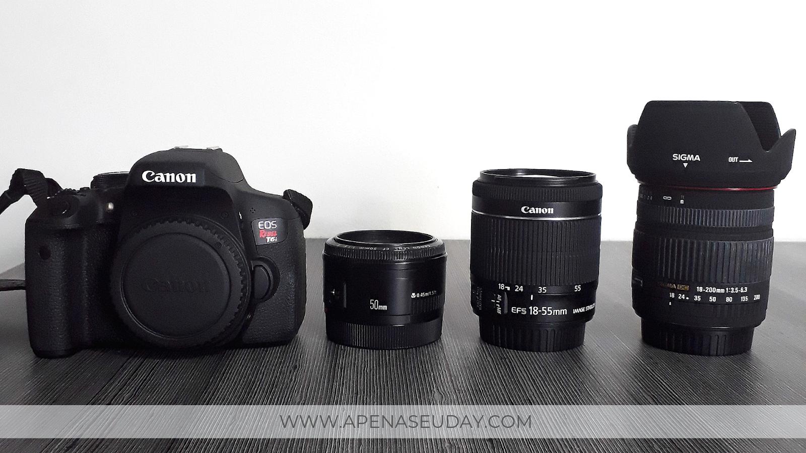 Tudo o que uma câmera para iniciantes precisa ter para amantes da fotografia. Canon T6i Rebel EOS com lente 18-55mm. Saiba mais agora mesmo!