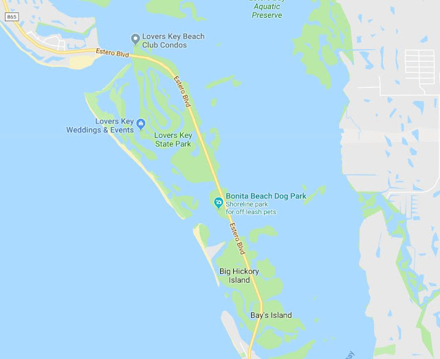 Small Map of Lovers Key State Park