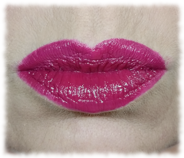 Lips after lipstick application