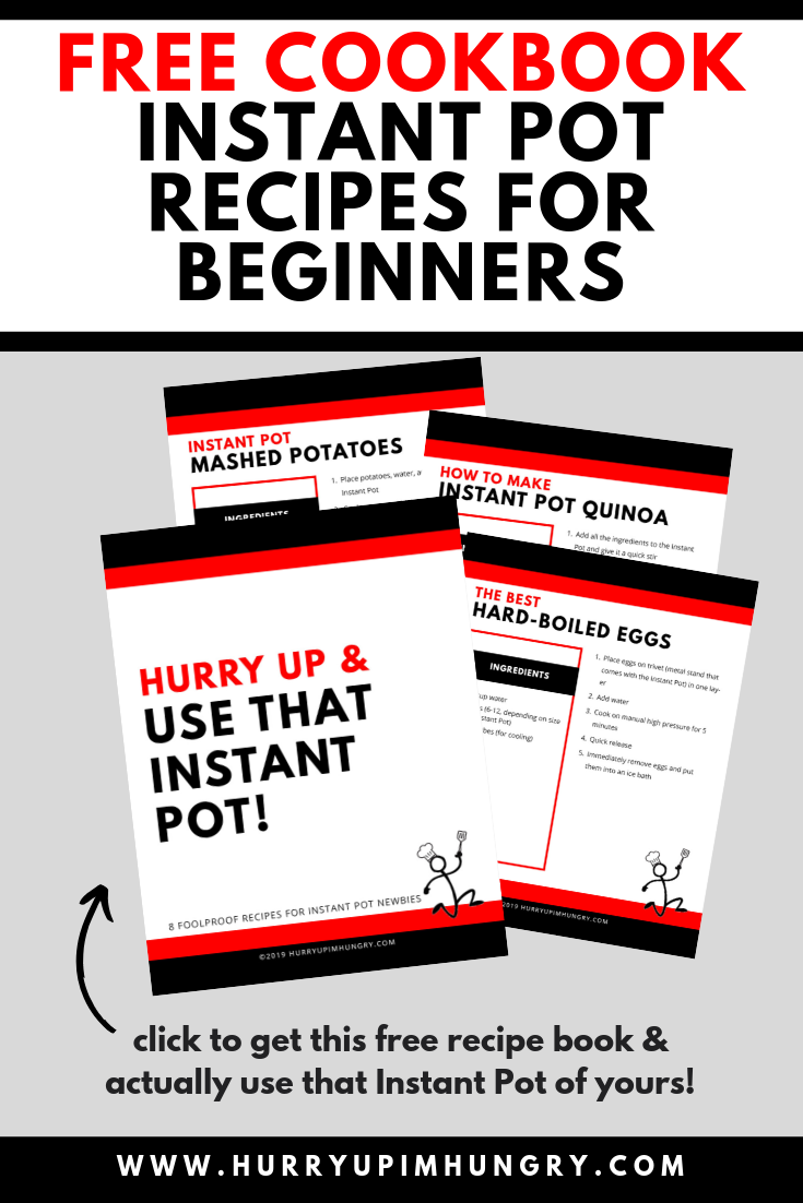 Beginner Instant Pot Cookbook to help you learn how to use the Instant Pot pressure cooker
