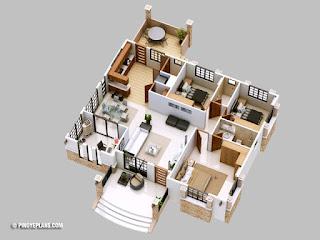 Denah Desain Rumah Minimalis 2019