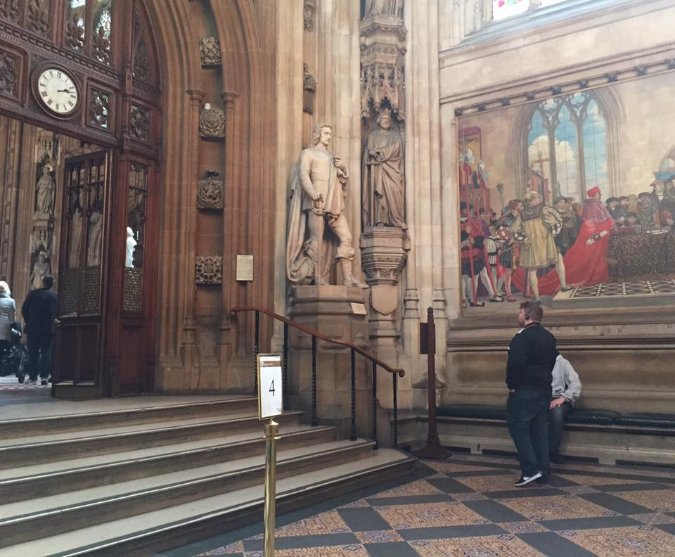 The Houses of Parliament Audio Tour for kids, A Review - children's audio tour - St Stephen's Hall