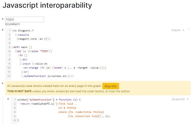 javascript interoperability