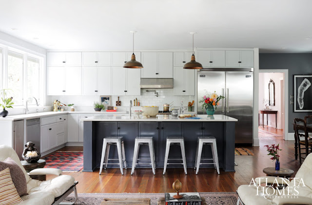 Gorgeous open concept kitchen with island