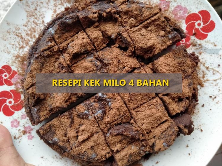 Resepi Kek Milo 4 Bahan [ Kukus Sahaja ]