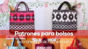 Patrones para bolsos crochet