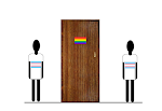 In the closet, a cartoon for On t'Internet