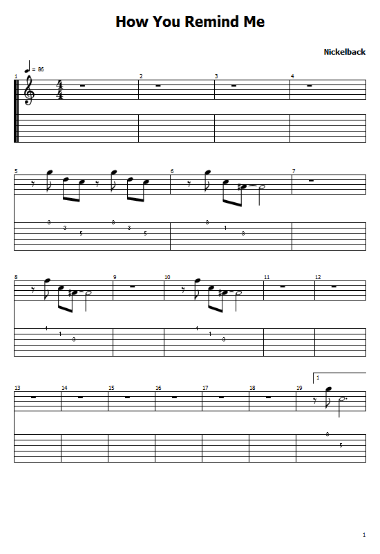 How You Remind Me Tabs Nickelback. How to Play How You Remind Me On Guitar, Nickelback - How You Remind Me Tabs/ Chords Music. Nickelback (Band) (Chad Kroeger)