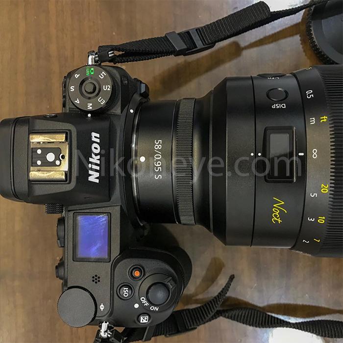 Nikon Z7 у объективом Nikon 58mm f/0.95