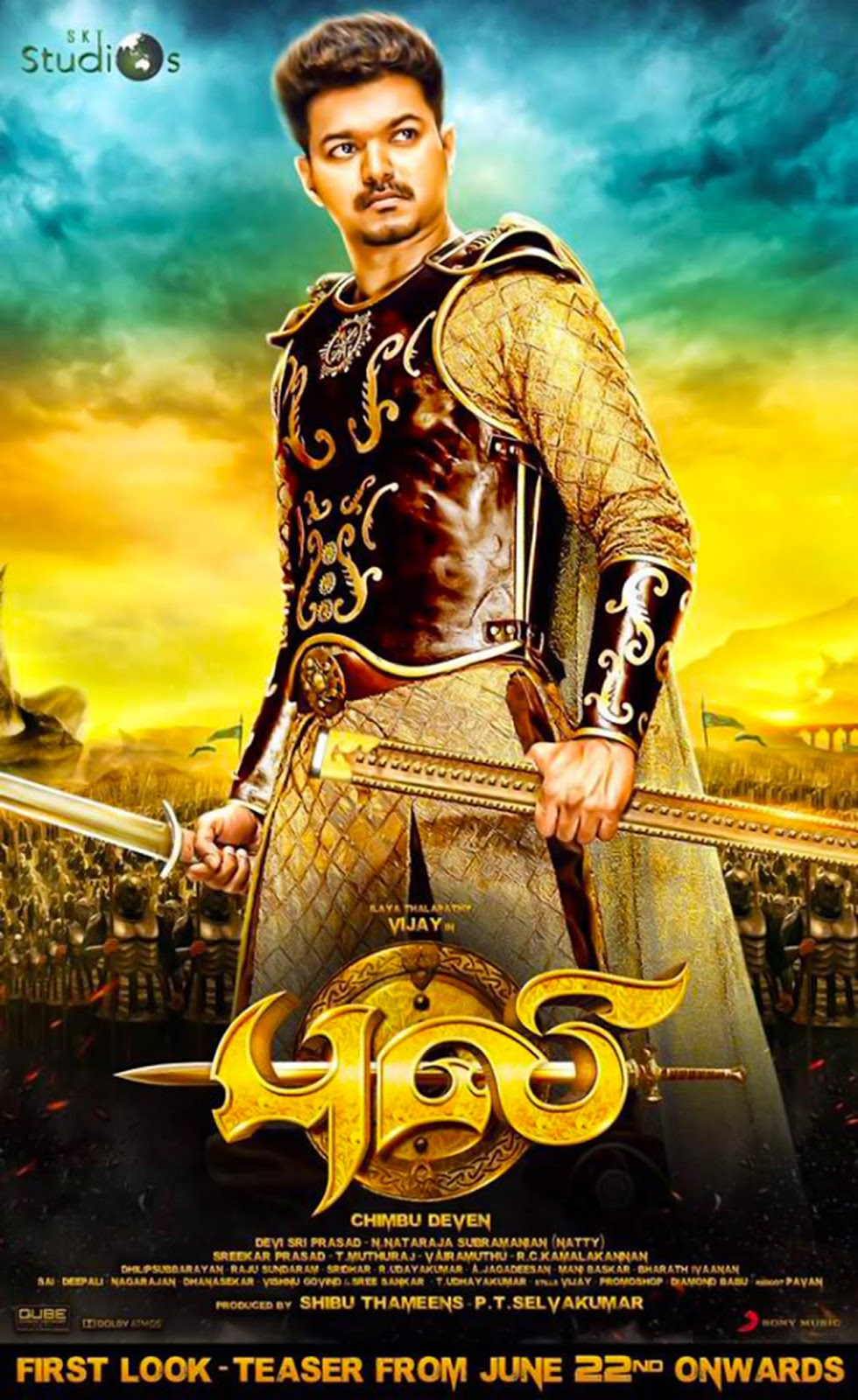 Tamil Actors Actress Gallery Movie Stills Images Videos Puli First Look Hd Poster