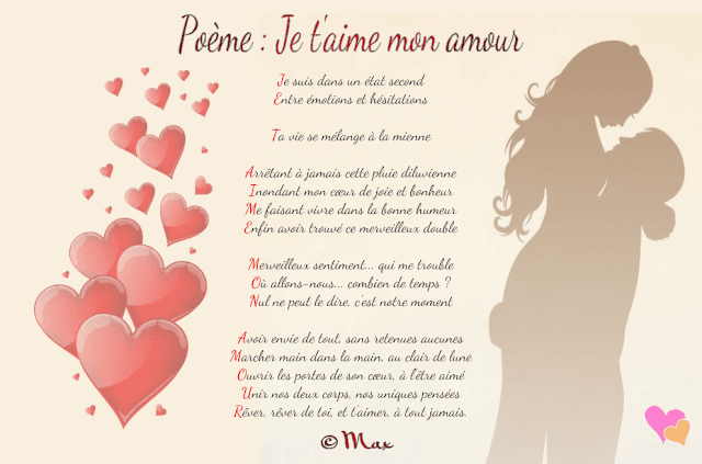 Poème acrostiche amour : Je t'aime
