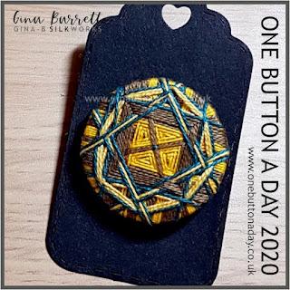 Day 275 : Burton - One Button a Day 2020 by Gina Barrett