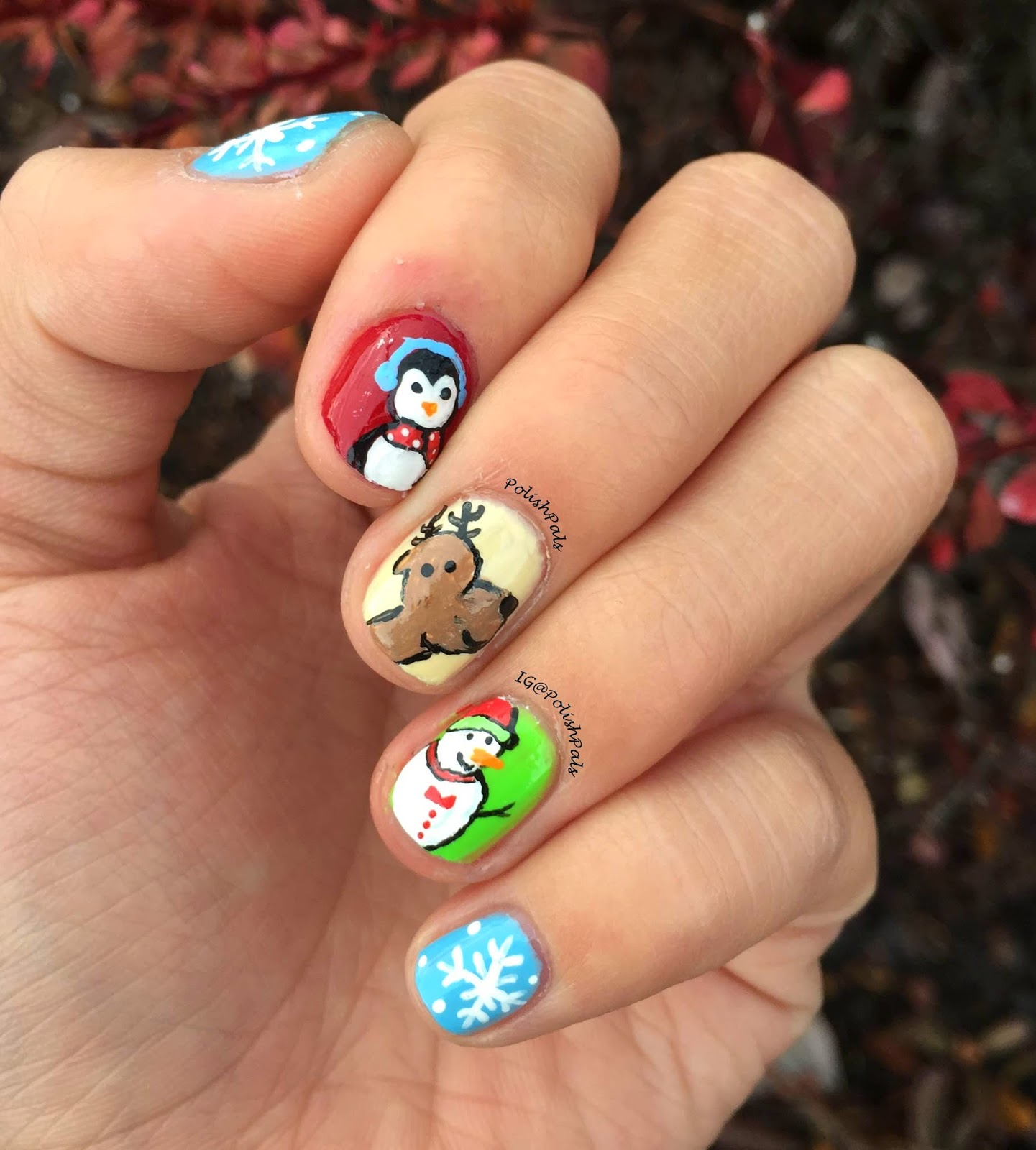Xmas Nail Colours: Polish Pals: Christmas Nails 2014