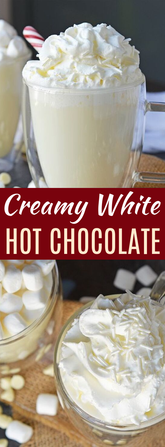 White Hot Chocolate #drinks #hotchocolate