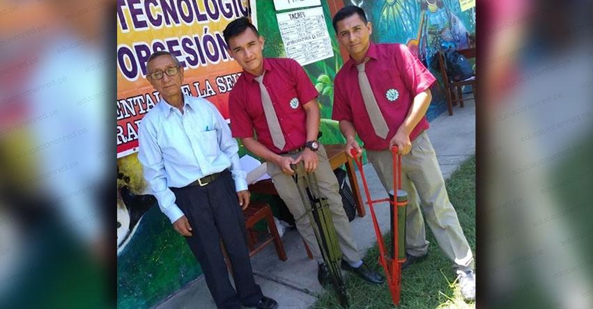 Estudiantes de San Martín fabrican sembradora manual de maíz