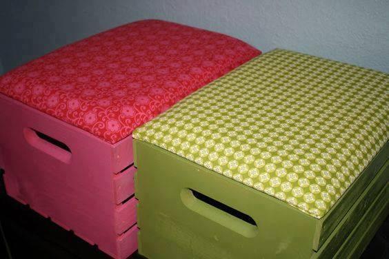 reutilizar caixotes de madeira banco bau