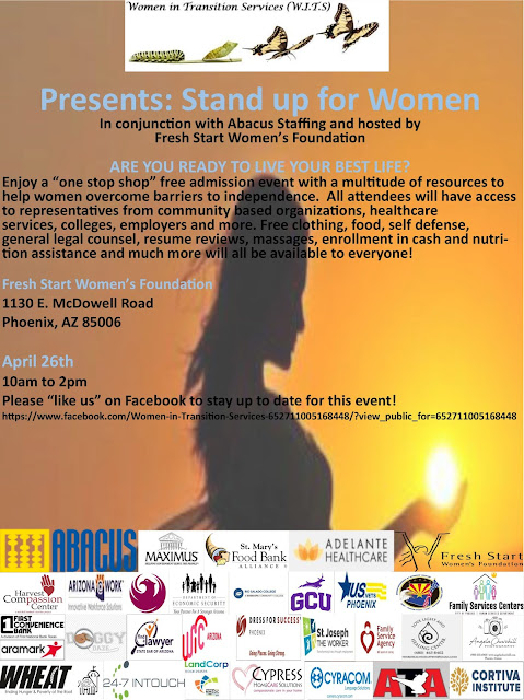 Stand up for Women poster, featuring silhouette of a woman holding the sun.  Text includes event details as listed https://www.facebook.com/events/338454930131367