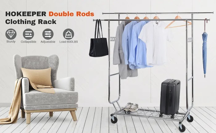 HOKEEPER Double Clothing Garment Rack review