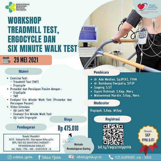 (SKP PPNI, SKP IFI) Workshop Traeadmill Test, Ergocycle, dan Six Minute Walk Test
