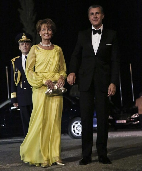 King Constantine II of Greece and former Queen Anne-Marie to celebrate their Golden wedding anniversary at the Yacht Club of Greece in Piraeus