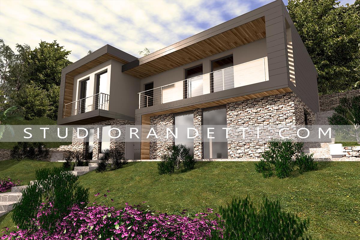 Studio randetti progettazione design ville moderne for Architettura ville moderne
