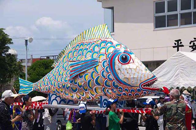 fish, festival, Henzajima,island, Okinawa, Sanguacha,shrine